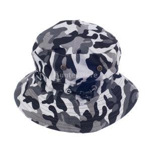 屋外のキャンプ釣り#1用の迷彩boonieバケットキャップツバ広太陽の帽子|stk-shop