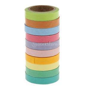 10個入り和紙虹スティッキー紙マスキング粘着テープスクラップブッキングのDIY|stk-shop