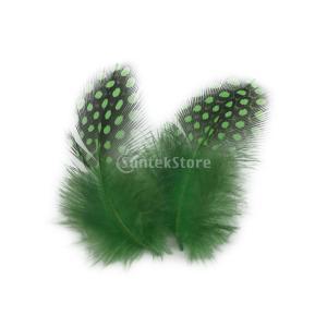 50pcsの染色モルモット鶏の羽の鶏の羽5〜10センチメートルピンクアップルグリーン|stk-shop