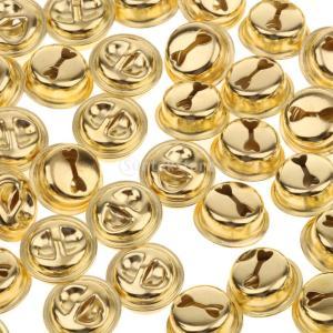 ノーブランド品 100 14ミリメートル ゴールド ジングル ベルクリスマス 装飾 ペット ベル チャーム クラフト 裁縫|stk-shop