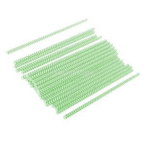 Blesiya ストライプ柄 紙製 ストロー 誕生日 ウェディング パーティー 使い捨て 用品 約25本 全11色 - グリーン stk-shop
