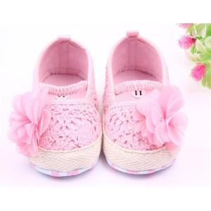 ノーブランド品 かわいい 花 装飾 幼児 ベビーシューズ 女の子 赤ちゃん 靴 全2色3サイズ - 13, ピンク|stk-shop