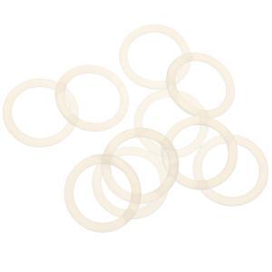 Perfk シリコーンホルダー リング 赤ちゃん アダプタ クリアのボタンスタイル おしゃぶり 柔軟クリップ 10個|stk-shop