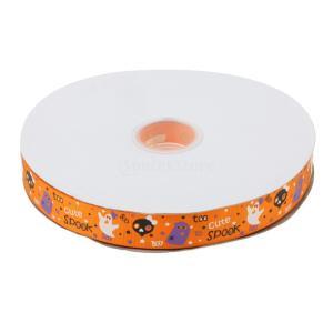 説明:  ハロウィーンの装飾ribbonfor 100ヤード25ミリメートルスパイダーパターングログ...