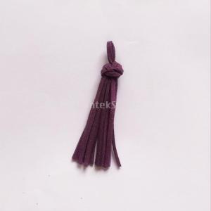 バッグ チャーム キーチェーン タッセル ペンダント 装飾 ベルベット リング付き 全12色 - ダークパープル|stk-shop
