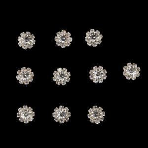 ノーブランド品  phenovo 10個入り ラインストーン ボタン 装飾 服 DIY ブローチ クラフト 髪飾り アクセサリー ビーズ 全13パターン - 5|stk-shop