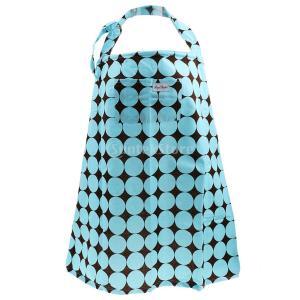 赤ちゃん 母乳 育児 授乳ケープ 授乳エプロン ポンチョ 授乳カバー 通気性 綿 授乳用 全2色選べる - 青|stk-shop