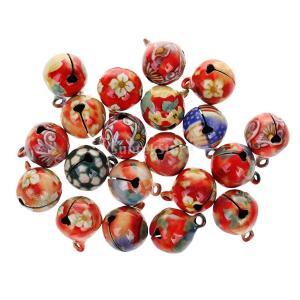 16mm 20枚 ラウンド マルチカラー ジングルベル ベル DIY 手芸 装飾用 ペンダント 工芸品|stk-shop
