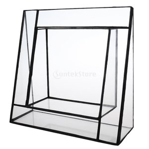 三角形 ガラス ガラス温室 多肉植物など プランターボックス テラリウム ディスプレイスタンド ホルダー