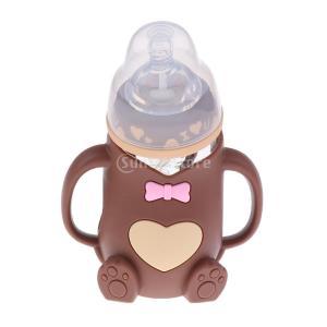 説明: 3ヶ月+ / BPAフリー、保護シリコーンスリーブ付きガラス哺乳瓶簡単に充填および洗浄のため...