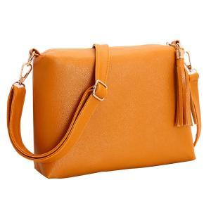 ノーブランド品  全2色 ファッション タッセルバッグ ショルダーバッグ メッセンジャーバッグ トートバッグ - 黄|stk-shop