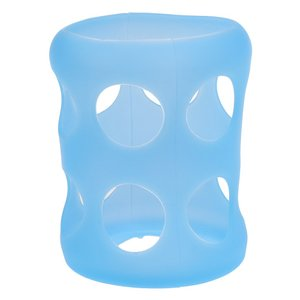 SONONIA ガラス  赤ちゃん  哺乳瓶のカバー  ボトル  シリコーンスリーブ  絶縁保護  無毒  全2色   - 青|stk-shop