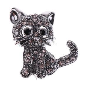 ヴィンテージ ジュエリー ラインストーン ブローチ コサージュ 可愛い 猫モチーフ 結婚式 ウェディング 結婚式 ジュエリー|stk-shop