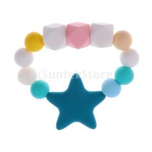 Sharplace 幼児 シリコーン 歯ブラシ チュアブル ブレスレット おしゃぶり 歯ブラシ チェン 安全|stk-shop
