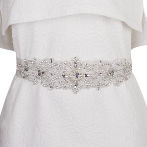 Fenteer 花嫁 ウェディングドレス ラインストーン  パールビーズ クリスタルベルト サッシュ おしゃれ 装飾 魅力的