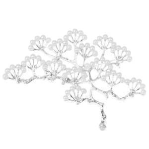 ノーブランド品 銀メッキ ブランチ設計 真珠のブローチ 結婚式のパーティー ブライダル ピン ギフト |stk-shop