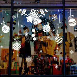 説明:クリスマス冬のウィンドウ装飾、スノーフレークしがみついては、自己粘着性PVCから作られています...