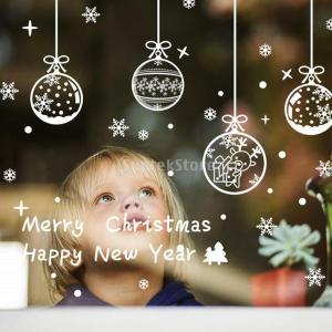説明:クリスマス「ハッピーニューイヤー」スノーフレークウィンドウ装飾は、スノーフレークしがみついては...