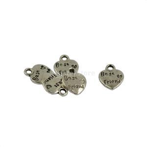 説明:  Tibeten銀ハート形のベストフレンド小さな心臓は両面チャームペンダントを彫刻しますネッ...