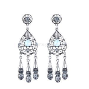 ピアス タッセル 素敵 合金 人工宝石 ビンテージ クリスタル プレゼント 女性|stk-shop