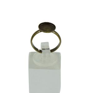 リング ブランク DIY ジュエリー アクセサリー 手芸材料 10個入り 全6色 - ブロンズ|stk-shop