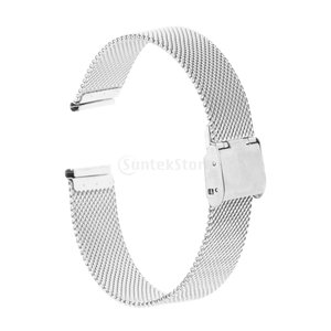 Fenteer ステンレス 時計 バンド メッシュ 調整可能 快適 耐久 交換用 腕時計 修理部品  多パターン選べ  - シルバー18mm