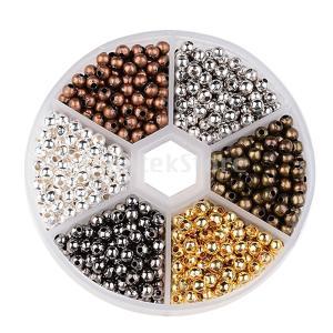 約948個のステンレス鋼ルースビーズDIYネックレスイヤリングスペーサー|stk-shop