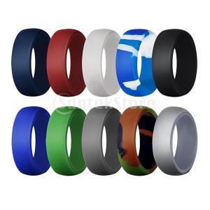 10個8.7 mm幅シリコンリング安全ゴム結婚指輪男性サイズ13|stk-shop