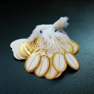 文字列ラベルの宝石類の表示の500pcs小売ネクタイは衣類の値札を見ます stk-shop