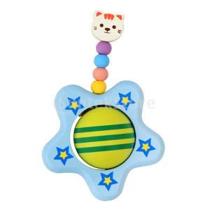 Dovewill ウッドラトル 可愛い 猫 リング 木制 星 がらがら カラフルなビーズ 赤ちゃん 玩具 贈り物|stk-shop