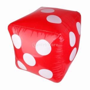 サイコロ ふくらませ おもちゃ  風船 面白い パーティーゲーム  児童 贈り物 赤