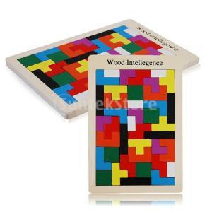 ノーブランド品 想像力開発 テトリス モンテッソーリ 子供 赤ん坊 幼児 木製 パズル おもちゃ