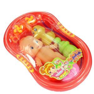 説明:  ベビードールとセットかわいいバスタブのおもちゃ 光プラスチック製の&水に浮くことができるよ...