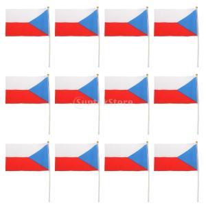 12本フラグ 国旗 祭り 試合や文化イベント スティック付き 飾り 14×21cm 全24国選べ -...