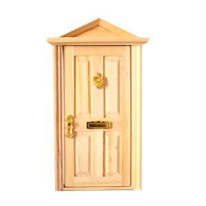 全6色選ぶ かわいい 1/12スケール 人形の家用  ドア ミニチュア 木製 家具 素敵 装飾  -...
