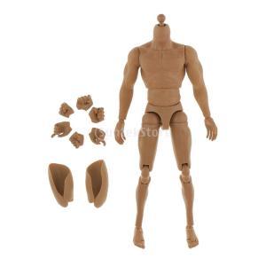 ノーブランド品 1/6スケール 12 インチ 男性のヌードフィギュア シームレスな腕 筋肉 ボディフ...