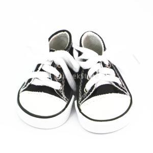 かわいい 人形用 レースアップ キャンバス シューズ 靴 18インチ アメリカンガールドール適用 ...