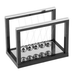SONONIA 3色選ぶ ニュートン クレードル バランスボール 物理学振り子 教育玩具 - ブラック stk-shop