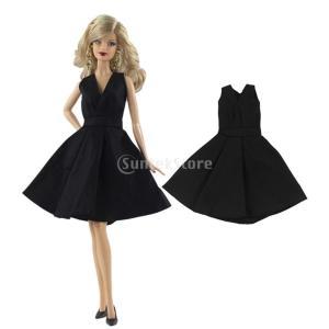 説明: ドールプリーツドレスの服装バービードールパーティーのイブニングドレスボールスカートアクセサリ...