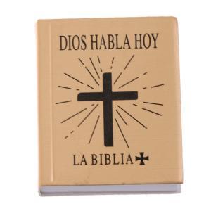 説明: 1/6スケールのミニ聖書ブックドールハウスミニチュアシーンの装飾これは、金のカバーとミニ英語...
