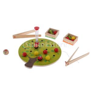 説明:ワームピッキングゲーム:赤ちゃんの子供devlopmental木製のおもちゃ、早期の色の認知教...