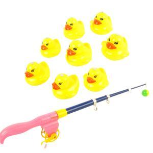 説明:動物モデルと釣竿、幼児キッズ釣りロールプレイゲーム早期認知発達水浴おもちゃギフトと9個の釣りア...