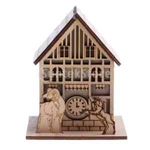 インテリジェンスおもちゃ 金属製 DIYパズルおもちゃ ミニハウス 3D建築パズル 立体パズル