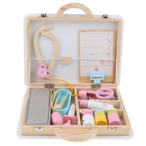 医薬箱 木製 医者ロールプレイおもちゃ お医者さん 看護師 子供の日 プレゼント 約15個入り|stk-shop