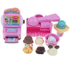 94a5a30a3c6807 B Baosity 店シミュレーション キャッシュレジスター 食べ物 子供 ふり遊びおもちゃ 遊び場 8色 - アイスクリーム屋
