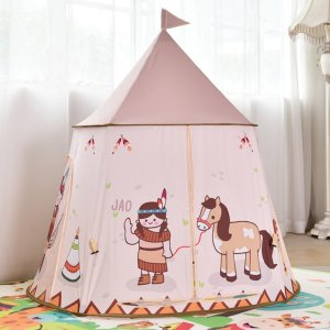 B Baosity テント 子供 折り畳み式 ポータブル 秘密基地 知育玩具 プレゼント 室内 裏庭用 キッズテント|stk-shop