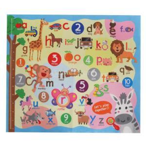 B Baosity ベビープレイマット アルファベット ナンバーマップ 幼児 クロールカーペット 教育玩具