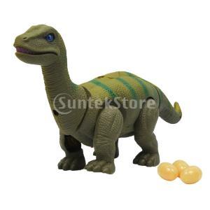 説明: 恐竜のおもちゃは歩くときに自動的に卵を産む自動的に歩き回り、クールな光、投影機能、リアルな恐...