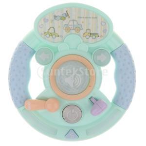 説明:子供の赤ちゃん幼児のための多機能電動ステアリングホイールおもちゃは、ゲームを運転するふりをする...
