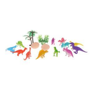説明:中約16個、恐竜12個、卵2個、木2個を含むこの恐竜セットは完璧な教育玩具です、これらの取り外...